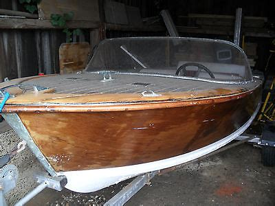 Classic Wooden Speed Boats For Sale by Broom Gemini Classic Wooden Speed Boat 1959 Boats For