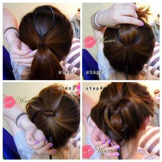 mengikat rambut panjang ala korea  cantik