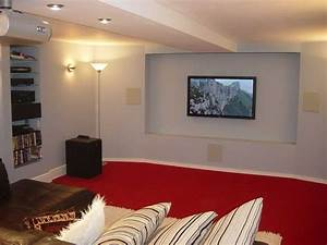 basement basement ceiling options with red carpet With the popular options of basement ceiling ideas
