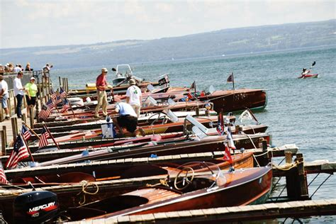 Skaneateles Ny Antique Boat Show by Antique And Classic Boat Show Docks In Skaneateles Local