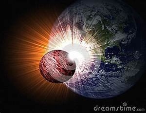 Crashing Into Earth Stock Illustration - Image: 49134711