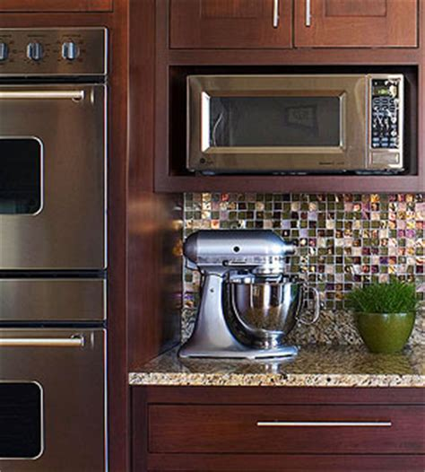 can i put a countertop microwave in a cabinet how to integrate a microwave