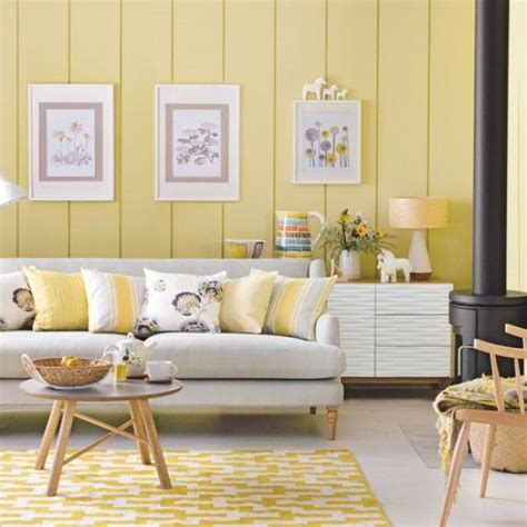 Living Room Yellow Walls by Daffodil Decorating Ideas Yellow Interiors Decor