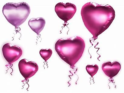 Balloons Heart Clipart Pink Transparent Balloon Clip