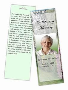 funeral program templates memorial bookmark spring With free memorial bookmark template download