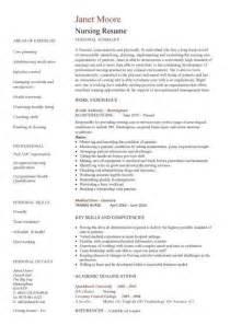 curriculum vitae format nurses nursing cv template resume exles sle registered resumes healthcare work