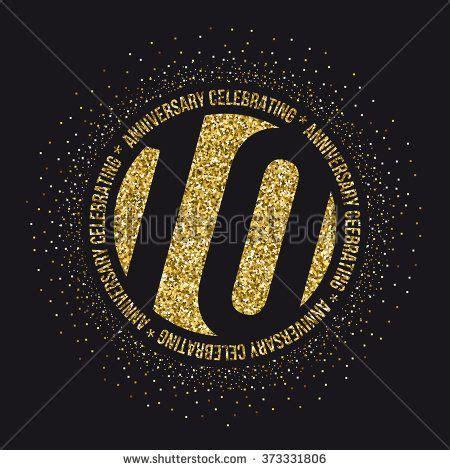 ten years anniversary celebration logotype
