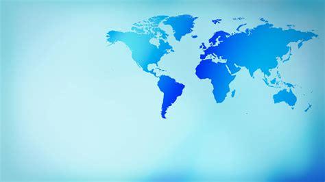 World Background Blue Layout Futuristic World Map Background 4k Motion