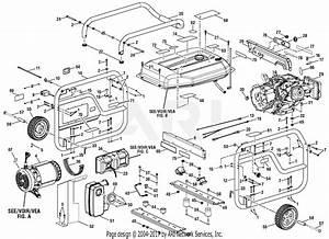 Homelite Bm905700pa 6000 Watt Generator Parts Diagram For