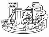 Park Water Drawing Coloring Waterpark Clipartmag sketch template