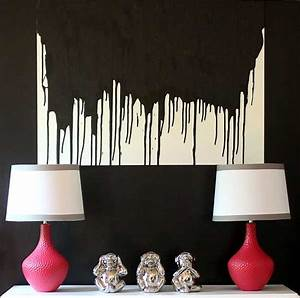Make this easy diy paint drip wall art