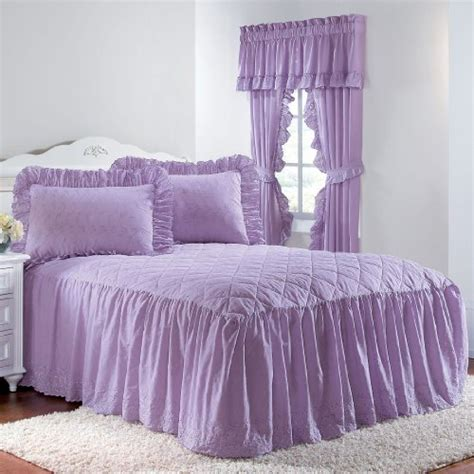 Cheap Coverlets by Best Price Brylane Home Eyelet Bedspread With Ruffle