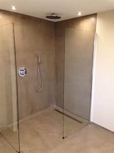 Beton Ciré Sol Salle De Bain : r alisation d 39 une douche italienne en b ton cir dans une ~ Preciouscoupons.com Idées de Décoration