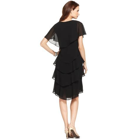 Patra Short sleeve Tiered Dress in Black   Lyst