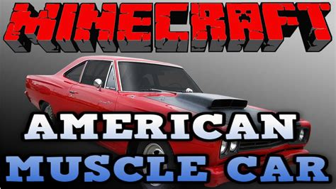 minecraft muscle car minecraft vehicle tutorial 26 how to build american