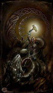 Thor vs. Jörmungandr | Goddesses and Gods | Pinterest