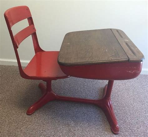 Vintage School Desk With Chair Attached by 1000 Ideas About School Desks On School