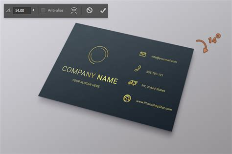 How To Make A Business Card In Photoshop  Photoshop Star