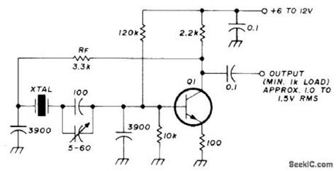 Khz Crystal Oscillator Circuit Signal