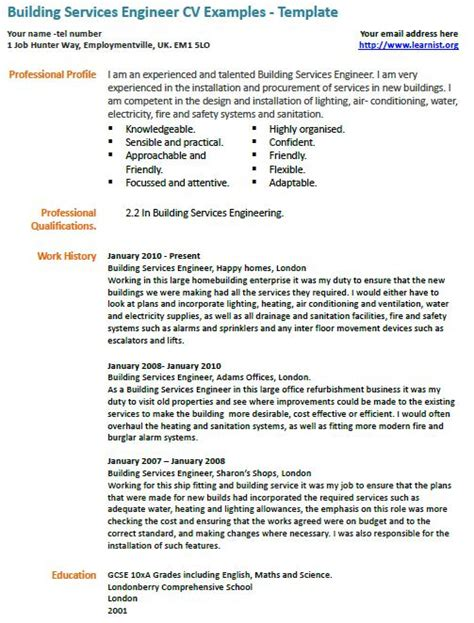building services engineer resume sle cover letter
