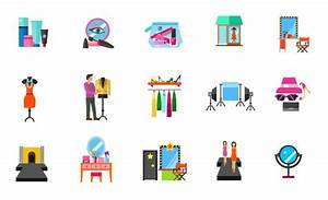 Fashion industry icon set Vector | Free Download