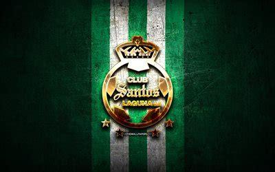 Descargar fondos de pantalla Santos Laguna FC, golden logo ...
