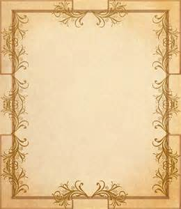 Scroll Border Paper