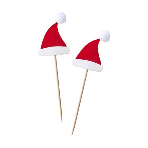 pom pom cuisine santa hat pom pom food picks by