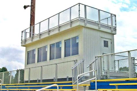 customized press boxes  stadiums national recreation