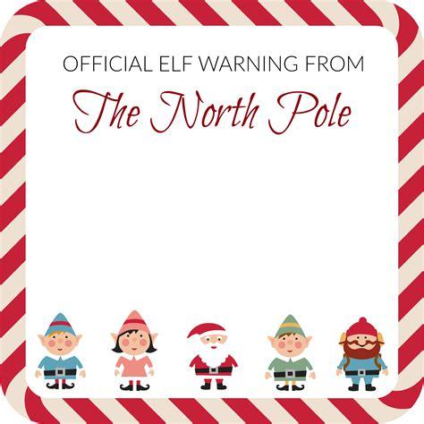 elf   shelf elf warning note template notes