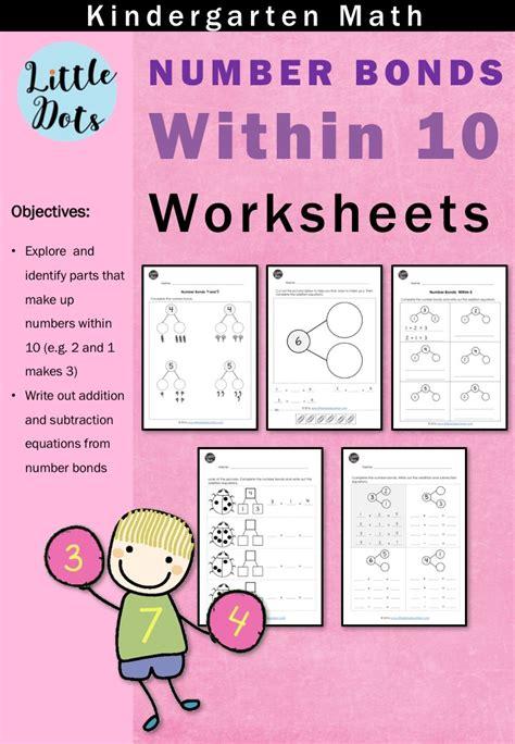 kindergarten math number bond worksheets  activities