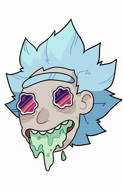 Morty Rick Clipart Trippy Transparent Drawing Background