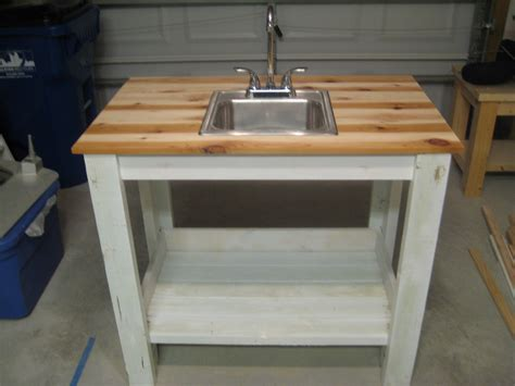simple outdoor sink ana white