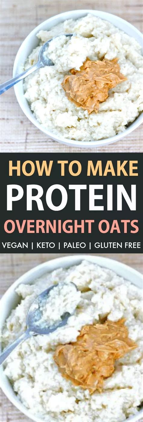 They're high in protein and fiber — which will keep you full throughout the morning unlike a bowl of warm oatmeal, overnight oats are meant to be eaten cold, straight from the refrigerator (no reheating necessary). Protein Overnight Oats Recipe - The Big Man's World ® | Recipe | Protein overnight oats, Low ...