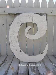 77 best images about c on pinterest initials typography With large cut out wooden letters