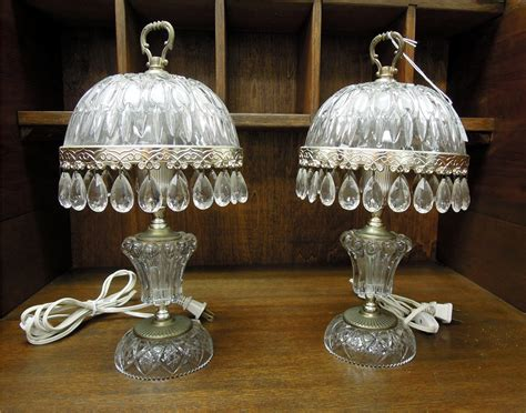 Antique Crystal Table Lamps