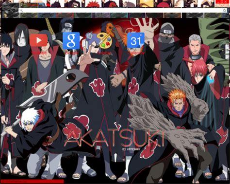 Akatsuki Members Chrome Theme Themebeta