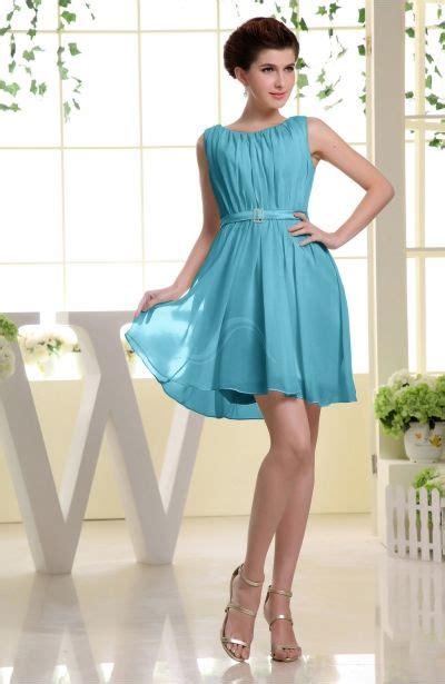 Turquoise Prom Dress - Simple A-line Sabrina Zip up Mini ...