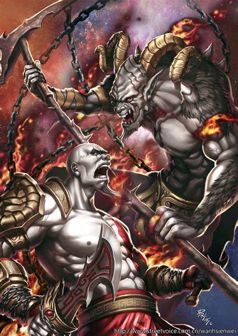 God Of War By Wanhsienwei On Deviantart