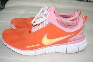 Women s Neon Orange Pink Nike Free 5 0 Running Shoes 11