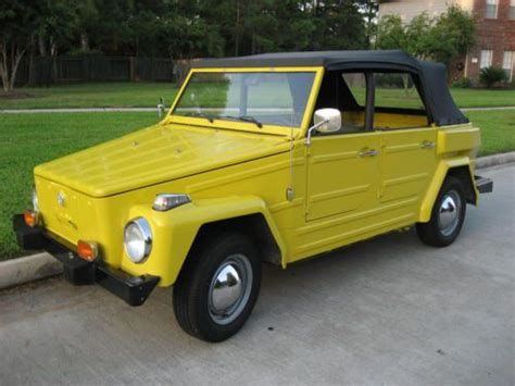 Buy Used 1974 Yellow Volkswagen Vw Thing Excellent