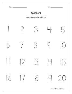 13 best images of counting worksheets 1 20 practice 481 | printable tracing numbers 1 20 395213