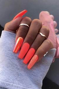21 neon orange nails and concepts for summer season