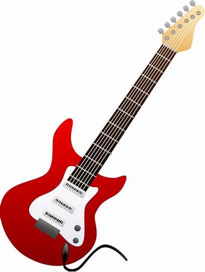 Guitar Electric Clipart Clip Royalty Vector Clker
