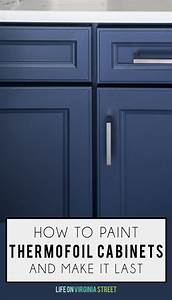 how to paint thermofoil cabinets life on virginia street With what kind of paint to use on kitchen cabinets for super street sticker