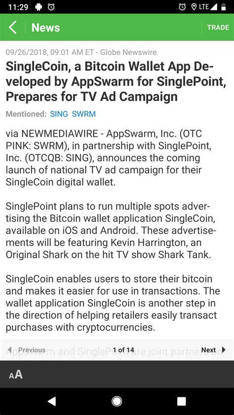 """(best bitcoin wallets available for security). $SING (SinglePoint Inc.) {QX} releases """"SingleCoin,"""" a new ..."""