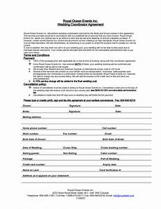 7 best images of printable wedding planner contract for Wedding planner agreement