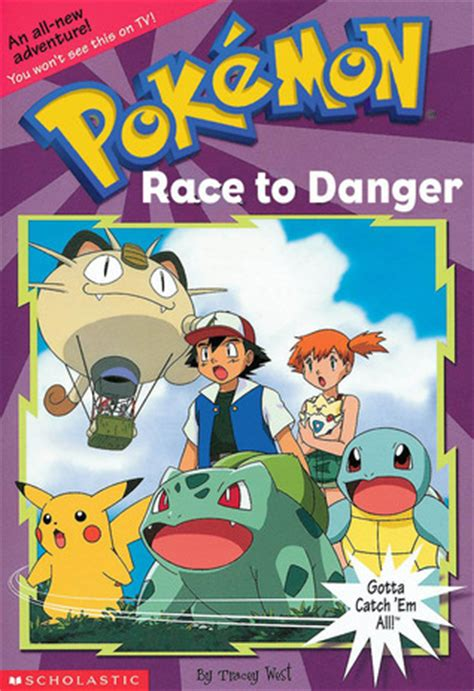 race  danger pokemon chapter book   tracey west