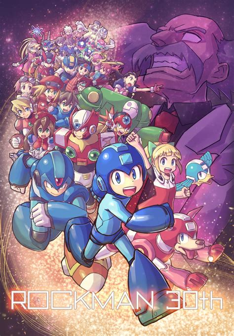 Mega Man 30th Anniversary Fanart By Lv01kokuen Mega Man