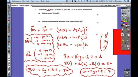 ib hl maths  paper question  vectors youtube